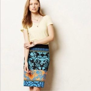 Plenty by Tracy Reese Block Floral Pencil Skirt